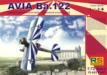 RS MODELS 1:72 - AVIA BA.122 WITH AVIA RK17 (5 DECAL V. CZECH, LUFTWAFFE, SLOVAKIA, ROMANIA)