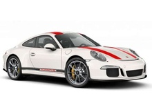 SCHUCO 1:87 - PORSCHE 911R, WHITE/RED