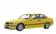 SOLIDO 1:18 - BMW E36 M3 COUPE 1994 YELLOW DAKAR