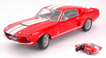 SOLIDO 1:18 - SHELBY MUSTANG GT500 1967 RED W/WHITE STRIPES