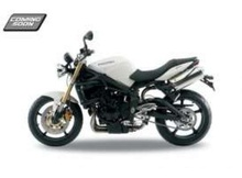 WELLY 1:18 - TRIUMP STREET TRIPLE, WHITE