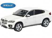 WELLY 1:24 - BMW X6 2009, WHITE