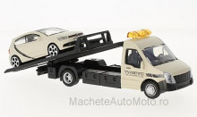 BBURAGO 1:43 - IVECO DAILY TRANSPORT WITH VW POLO V GTI