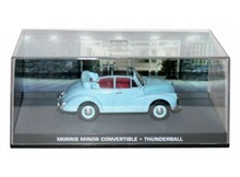 MAGAZINE MODELS 1:43 - MORRIS MINOR CONVERTIBLE JAMES BOND 'THUNDERBALL', BLUE