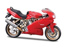 BBURAGO 1:18 - DUCATI SUPERSPORT 900, RED