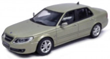 CARARAMA 1:43 - SAAB 9.5 SEDAN, LIGHT GREEN