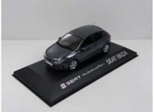 DEALER MODEL 1:43 - SEAT IBIZA IV 2008/2017 *IN SEAT DEALER PACKAGING*, DARK BLUE GREY