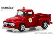 GREENLIGHT 1:64 - FORD F-100 ARLINGTON HEIGHTS ILLINOIS PUBLIC WORKS 'HOBBY EXCLUSIVE' 1954, RED