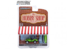 GREENLIGHT 1:64 - JEEP CJ-5 RENEGADE 1971 WITH SURFBOARDS *THE HOBBY SHOP SERIES 10*, BIG BAD GREEN