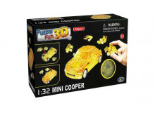 HAPPY WELL 1:32 - MINI COOPER 3D PUZZLE 64PCS, CLEAR YELLOW
