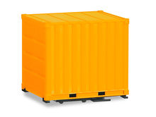 HERPA 1:87 - BODY 10 FT. CONTAINER WITH GROUND PLATE, YELLOW, 2 PIECES