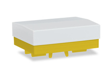 HERPA 1:87 - Heavy duty platform with canvas (2 pieces), yellow
