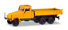 HERPA 1:87 - IFA G5 3-WAY DISCHARGE SKIP, ORANGE (MODIFIED CABIN AND NEW CONSTRUCTION)