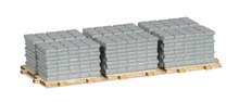 HERPA 1:87 - New type! Accessories payload of sidewalk slabs on pallets ( 2 pieces