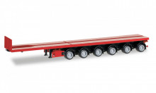 HERPA 1:87 - Nooteboom ballast trailer with 6 axle, red