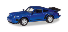 HERPA 1:87 - Porsche 911 Turbo, blue metallic