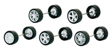HERPA 1:87 - Rims for passenger cars, Mercedes-Benz, silver varnished