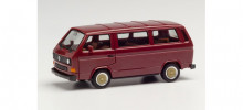 HERPA 1:87 - VW T3 Bus with BBS wheels, wine red