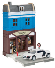 HERPA CITY 1:64 - BAKERY WITH AUDI R8 DIE-CAST MODEL
