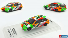 INNO MODELS 1:64 - HONDA CIVIC 1992 EF9 GR.A #14 *JACCS* JTC, WHITE/GREEN