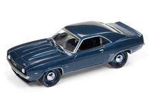 JOHNNY LIGHTNING 1:64 - CHEVROLET CAMARO 1969, BLUE