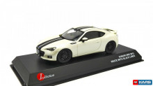 KYOSHO 1:43 - SUBARU BRZ, WHITE WITH BLACK LINE
