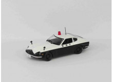 MAGAZINE MODELS 1:43 - DATSUN FAIRLADY 240Z *POLICE CARS OF THE WORLD SERIES*, WHITE/BLACK
