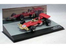 MAGAZINE MODELS 1:43 - LOTUS 72D 1971 LOTUS-FORD COSWORTH #8 EMERSON FITTIPALDI GERMANY GP F1, RED/GOLD