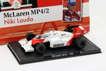 MAGAZINE MODELS 1:43 - MCLAREN MP4/2 1984 #8 'NIKI LAUDA', WHITE/RED