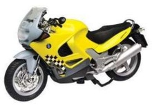 MOTOR MAX 1:18 - BMW K1200RS, YELLOW