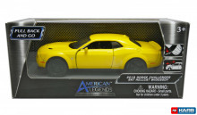 MOTORMAX 1:32-1:39 - DODGE CHALLENGER SRT 2018 'PULL BACK', YELLOW