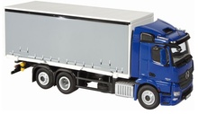 NZG 1:50 - MB Actros Fh600m 4X2 C/Sider - Blue