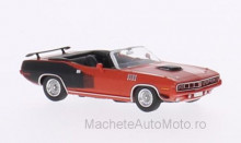 RICKO 1:87 - PLYMOUTH HEMI CUDA CONVERTIBLE, RED/DECORATED