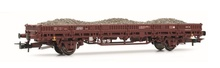 Rivarossi HO (1:87) - Flat wagon, DB, period IV, loaded with bal last