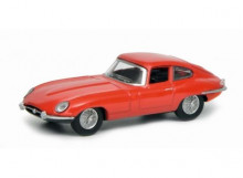 SCHUCO 1:64 - JAGUAR E-TYPE COUPE, RED