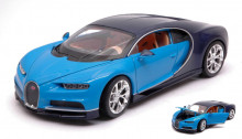 WELLY 1:24 - BUGATTI CHIRON LIGHT BLUE/DARK BLUE