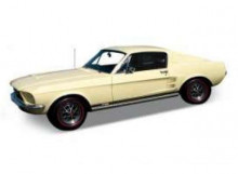 WELLY 1:24 - FORD MUSTANG GT 1967, CREAM