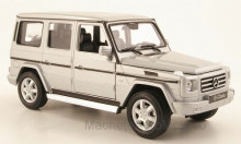 WELLY 1:24 - MERCEDES G-CLASS, SILVER WITHOUT SHOWCASE