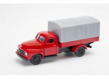 WELLY 1:34 - OPEL BLITZ 1952 SOFT TOP, RED/GREY