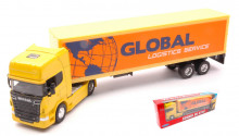 WELLY 1:64 - CAMION SCANIA V8 R730 GLOBAL LOGISTICS SERVICE