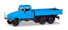 HERPA 1:87 - IFA G5 3-WAY DISCHARGE SKIP, BLUE (MODIFIED CABIN AND NEW CONSTRUCTION)