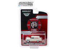 GREENLIGHT 1:64 - CHEVROLET SEDAN 1955 DELIVERY CHANNELVIEW TEXAS FIRE DEPARTMENT VOLUNTEER EMERGENCY CAR, T.B.