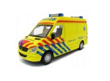 BBURAGO 1:50 - MERCEDES BENZ SPRINTER AMBULANCE N.L., YELLOW