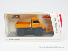 SCHUCO 1:64 - MERCEDES BENZ UNIMOG U406 WINTERDIENST, ORANGE