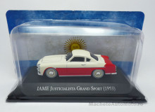 MAGAZINE MODELS 1:43 - IAME JUSTICIALISTA GRAND SPORT 1953, RED/CREME