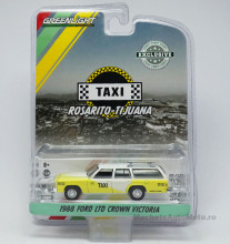 GREENLIGHT 1:64 - FORD LTD CROWN VICTORIA WAGON 1988 ROSARITO BEACH, BAJA CALIFORNIA, MEXICO TAXI *HOBBY EXCLUSIVE*