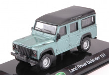 BBURAGO 1:43 - LAND ROVER DEFENDER 110 METALLIC LIGHT GREEN HARD CASE