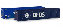 """HERPA 1:87 - Accessories Container-Set 2x 45 ft. High Cube Container, """"P&O Ferrymaster / DFDS"""""""