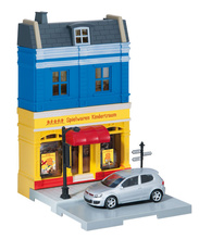 HERPA CITY 1:64 - TOY STORE WITH VW GOLF GTI DIE-CAST MODEL