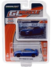 GREENLIGHT 1:64 - NISSAN GT-R R35 2014, 'MUSCLE SERIES 17', BLUE